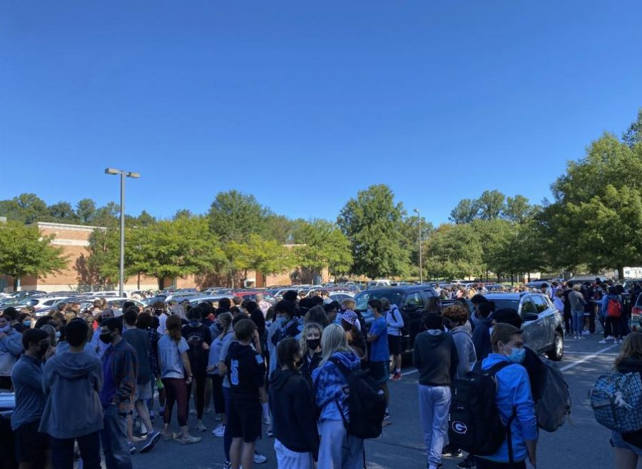 Photo of the Day, Sept. 24: fourth period fire drill