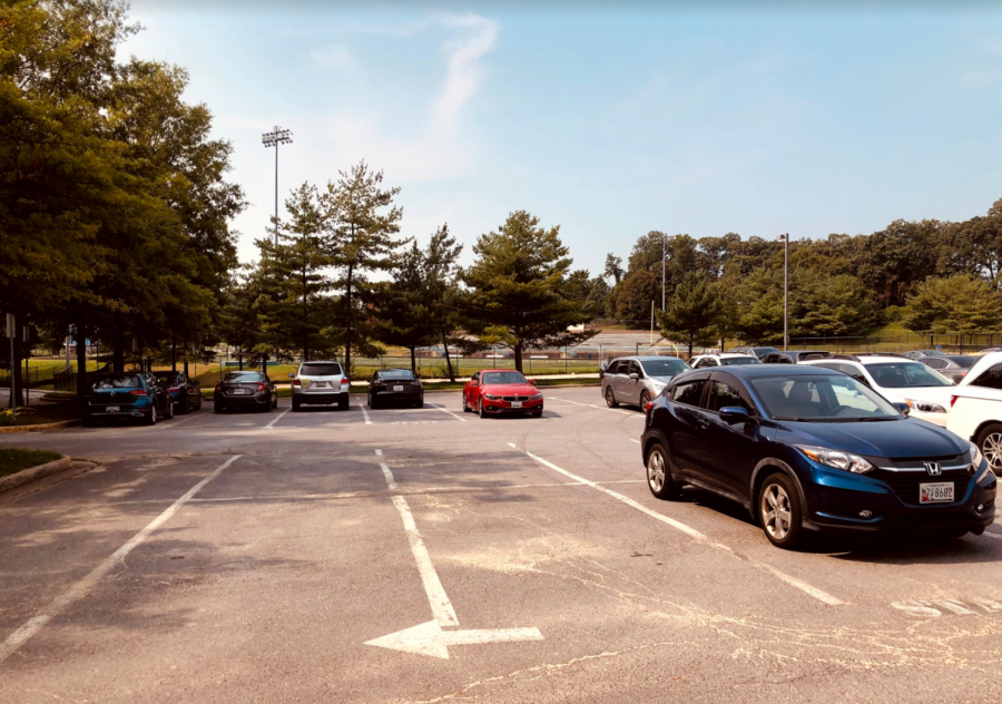 The number of available parking spots for students has dramatically increased this year.